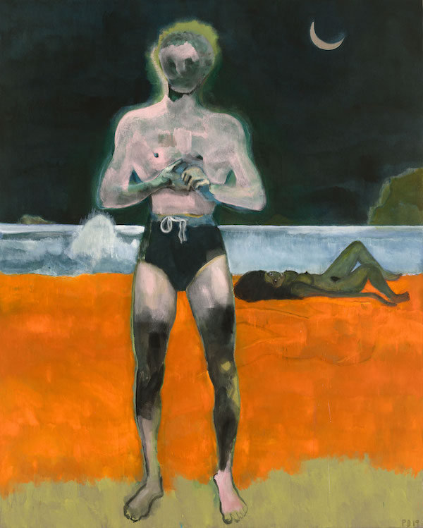 Bather (Night Wave), 2019 © Peter Doig. All Rights Reserved, DACS 2019. Courtesy Michael Werner Gallery, New York and London.