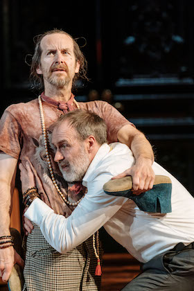 Denis O'Hare and Kevin Doyle as Tartuffe and Orgon