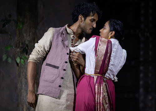 Assad Zaman as Kaushik Das and Anjana Vasan as Niru in A Doll's House