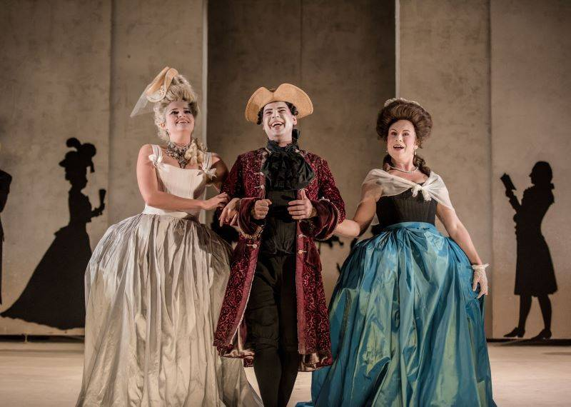 Samantha Clarke, Benjamin Hulett, Susanna Fairbairn - photo by Genevieve Girling