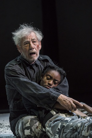 Ian McKellen as King Lear and Anita-JoyUwajeh as Cordelia