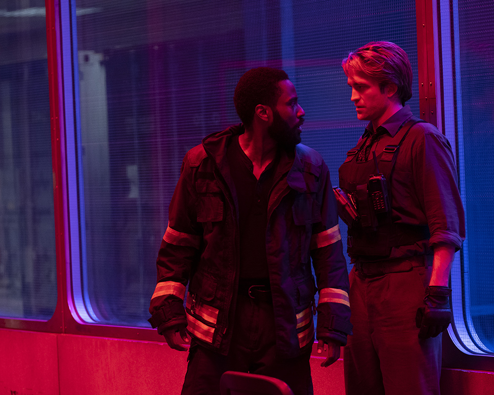 John David Washington and Robert Pattinson go back and forth in time