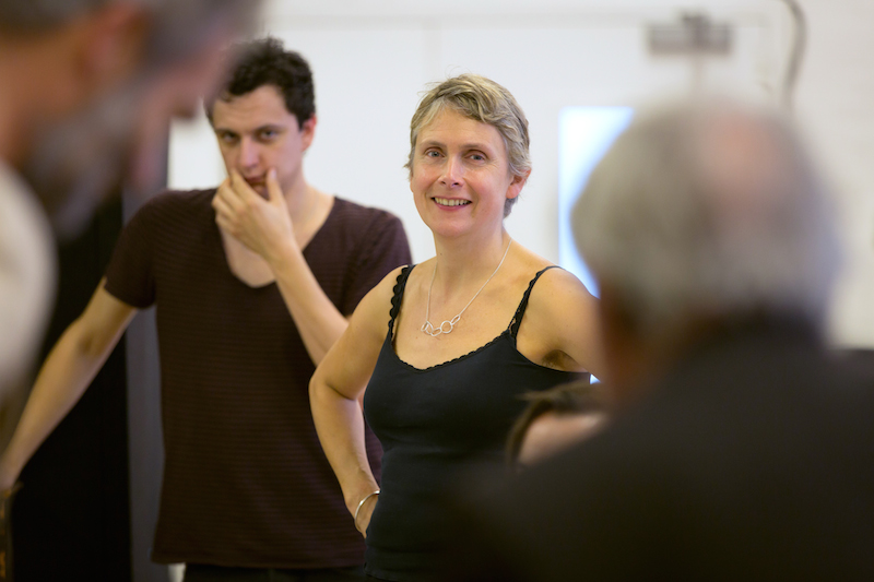 Katie Mitchell in rehearsal for The Cherry Orchard at the Young Vic