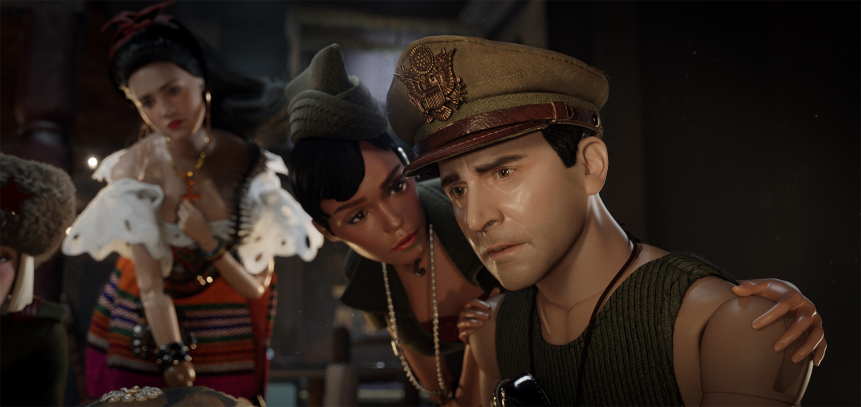 Steve Carell and Janelle Monae in Welcome to Marwen