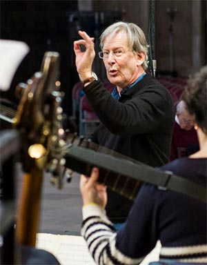 Sir John Eliot Gardiner in King's College Chapel