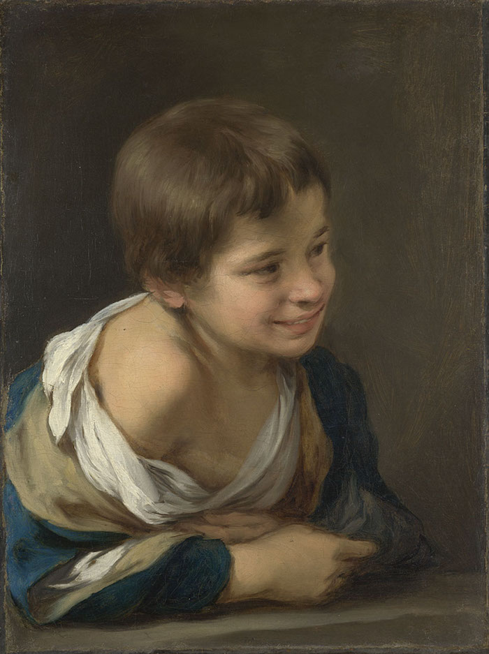 A Peasant Boy leaning on a Sill - Bartolomé Esteban Murillo, about 1675