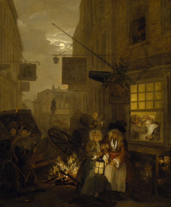 William Hogarth (1697-1764), The Four Times of Day: Night. Oil on canvas, 1736-37. © National Trust Collections, Upton House (The Bearsted Collection)