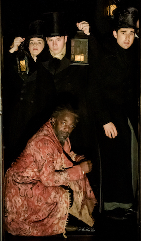 Paterson Joseph as Scrooge in A Christmas Carol