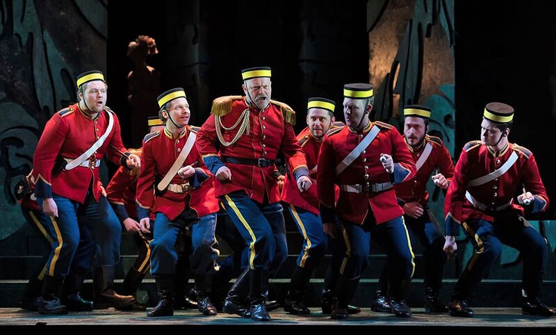 Andrew Slater (Colonel Calverley) and Heavy Dragoons in ETO's Patience - photo by Bill Knight