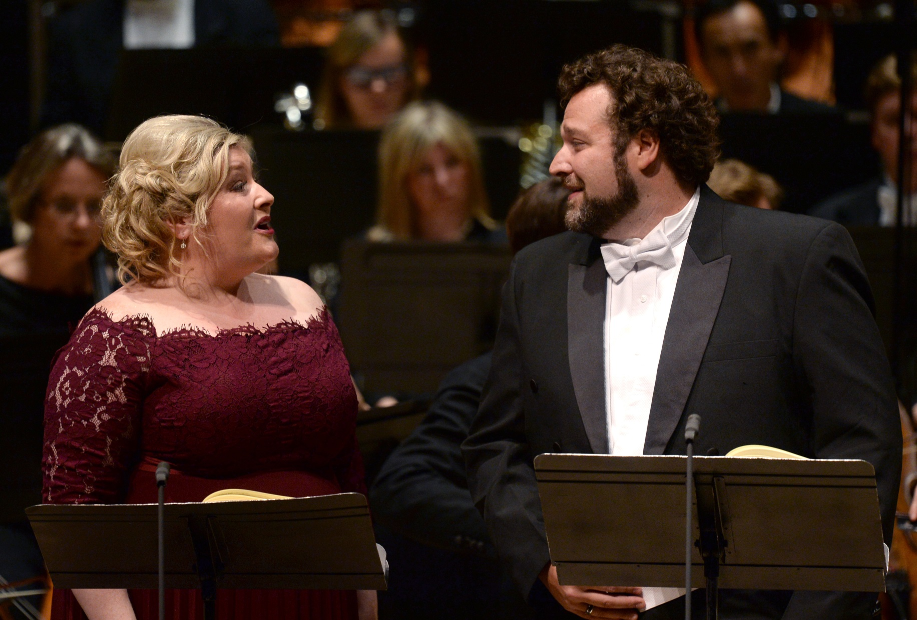 Karen Cargill and Bryan Hymel in La Damnation de Faust at the Barbican