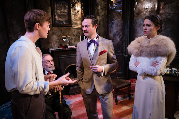 Steffan Cennydd as David, Hayward B Morse as Herr Pappelmeister, Alexander Gatehouse as Davenport and Whoopie van Raam as Vera by Christopher Tribble