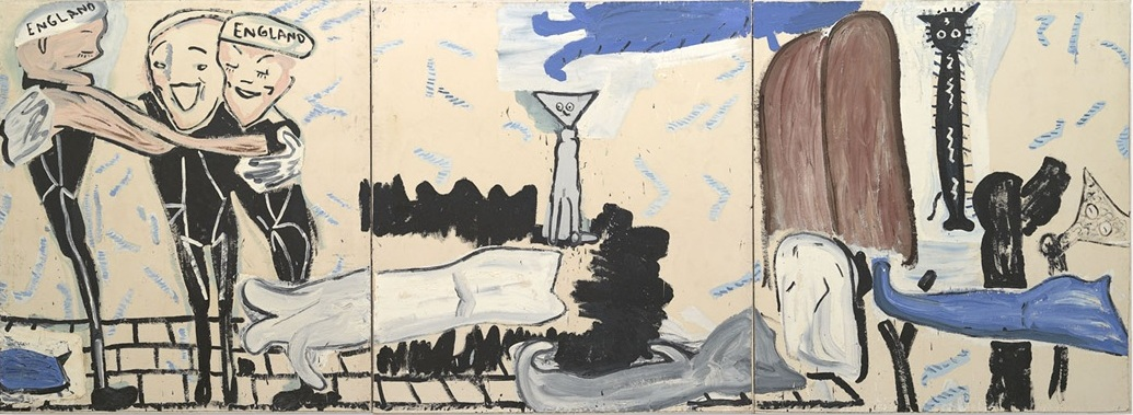 Swimming with Cats, 2002, Rose Wylie
