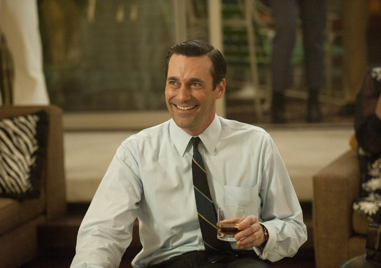 Don (Jon Hamm) at his 40th birthday party