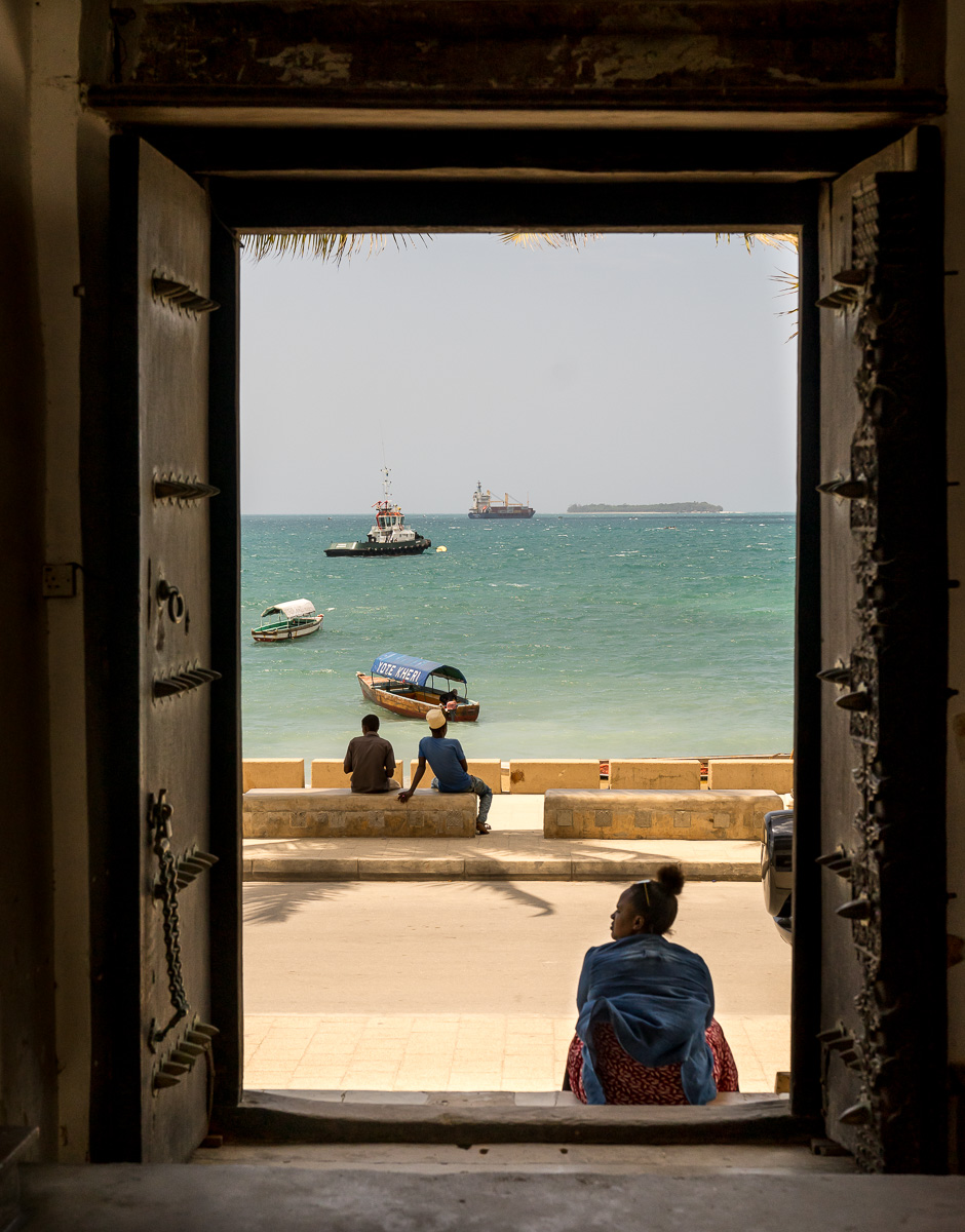 The view from main door of the Dhow Countries Music Academy.  © Andy Morgan.