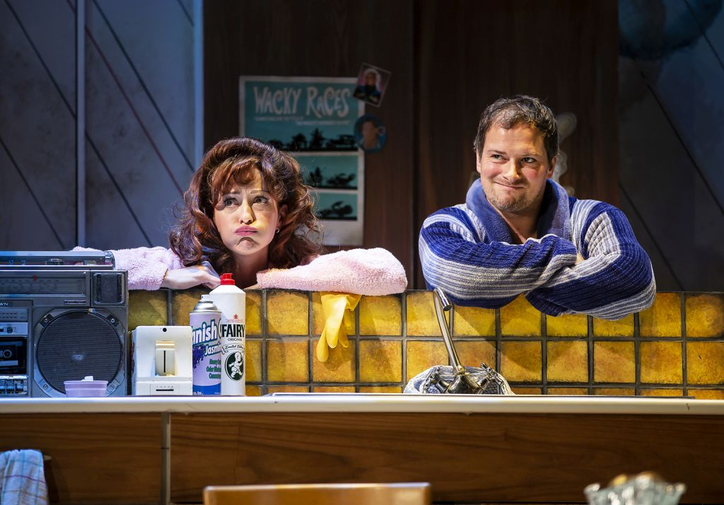 Amy Ellen Richardson and Andrew Langtree as the parental Moles