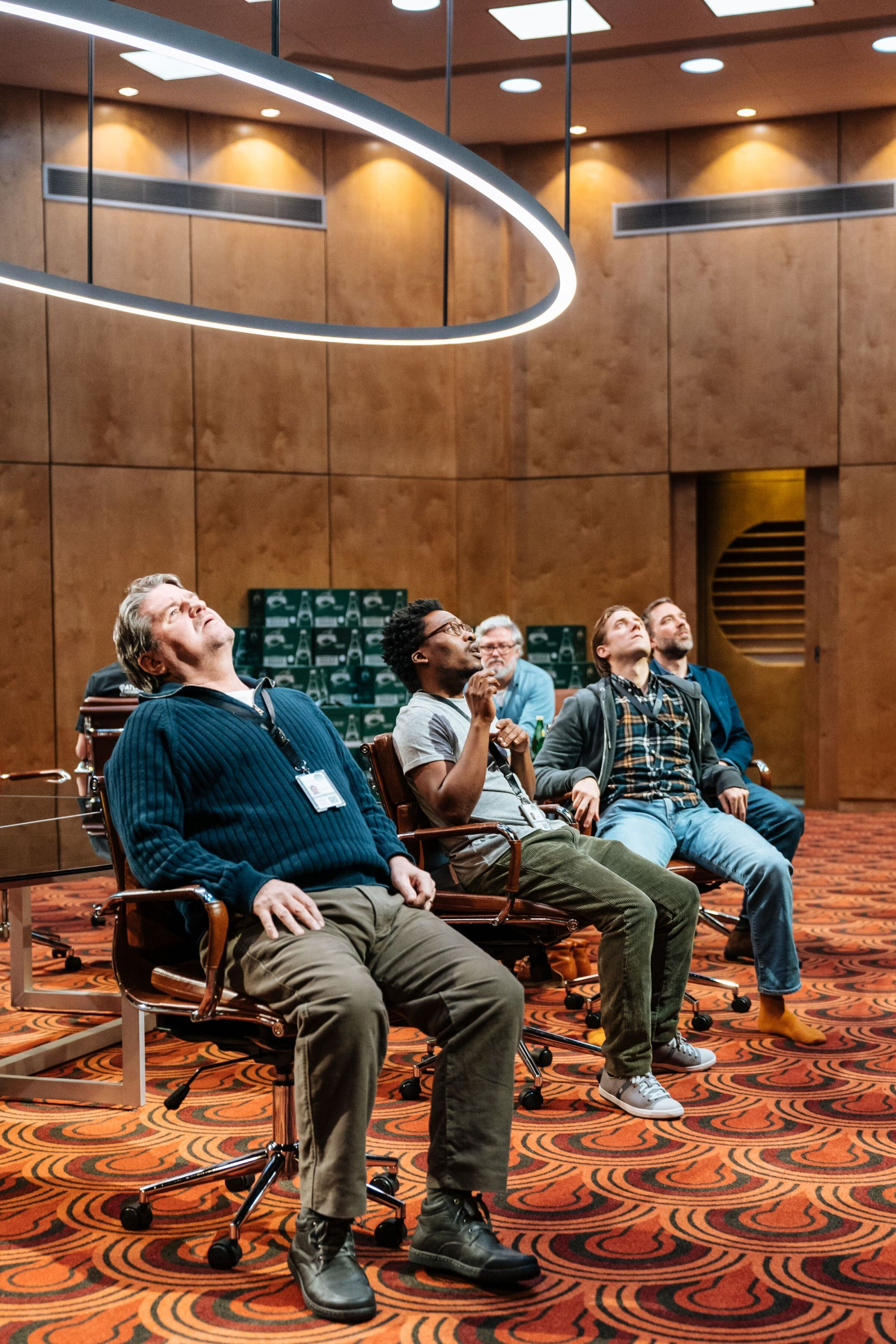 The cast of 'The Antipodes' at the National Theatre