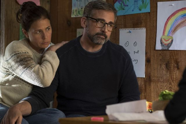 Maura Tierney and Steve Carell in 'Beautiful Boy'
