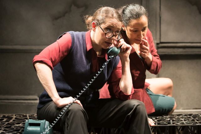 Sioned Jones and Natalie Winsor in 'Bury the Dead'