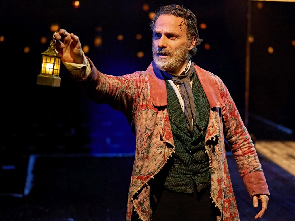 Andrew Lincoln as Scrooge at the Old Vic