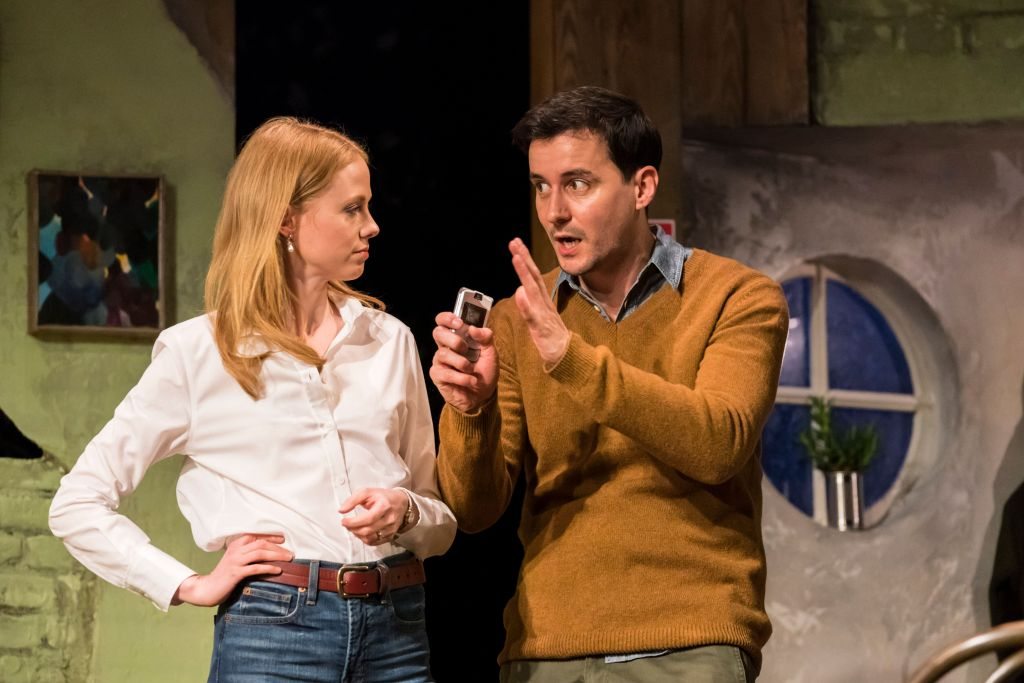 Zoe Boyle and Sam Swainsbury in 'the end of history ...'