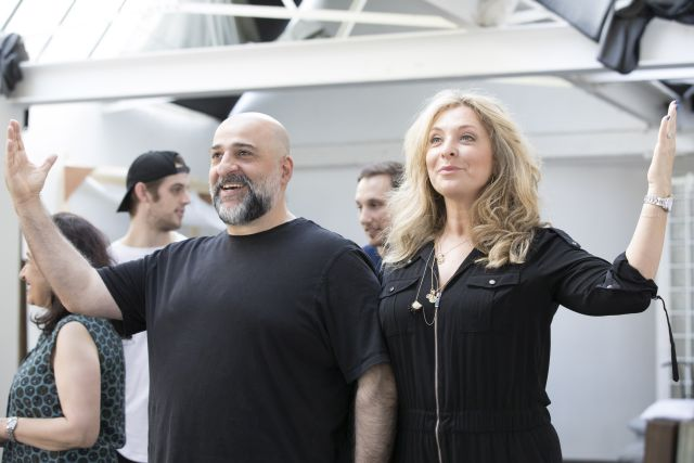 Omid Djalili as Tevye and Tracy-Ann Oberman as Golde