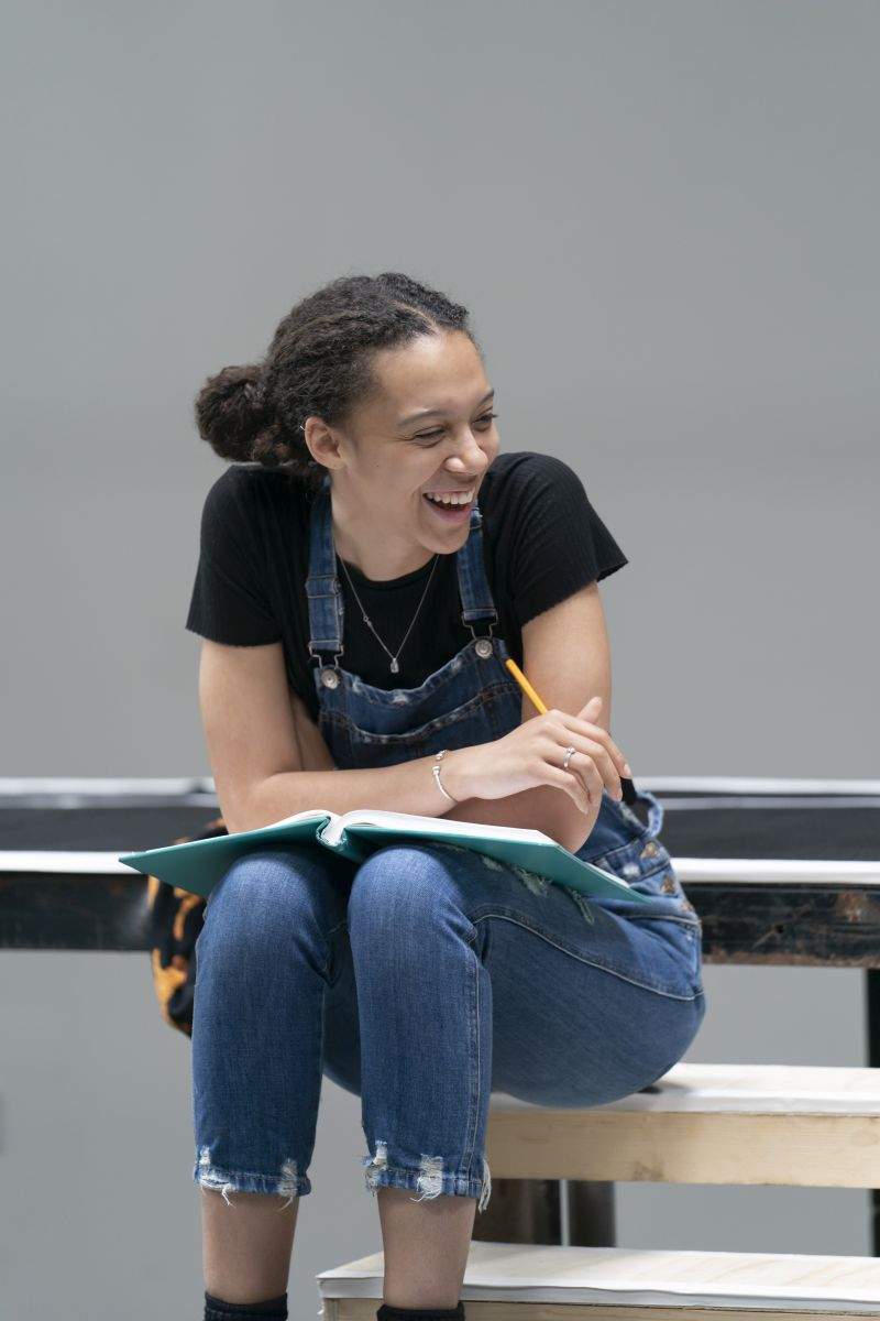Francesca Henry in rehearsal for 'Our Town'