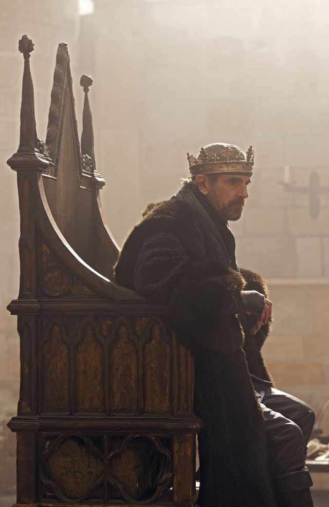 Jeremy Irons as the ageing king