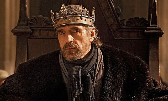 Jeremy Irons as the ailing Henry IV