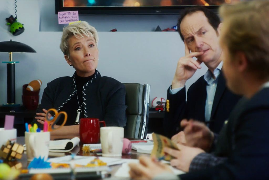 Emma Thompson and Denis O'Hare in 'Late Night'