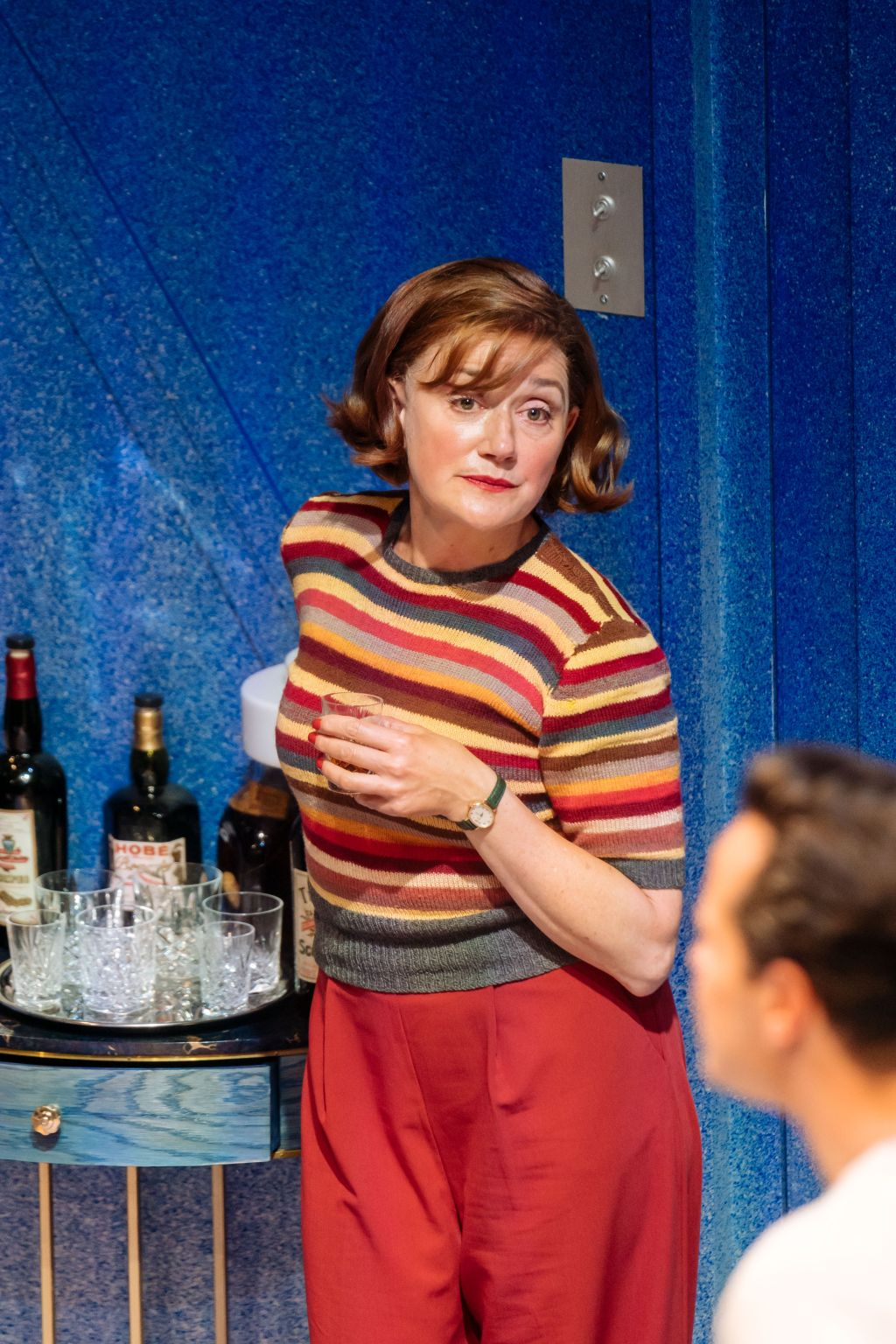 Sophie Thompson as Monica in 'Present Laughter'