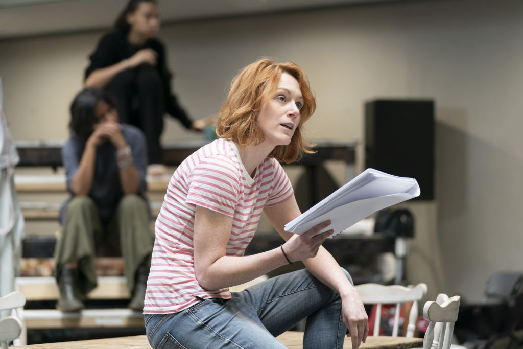 Laura Rogers in rehearsal for 'Our Town'