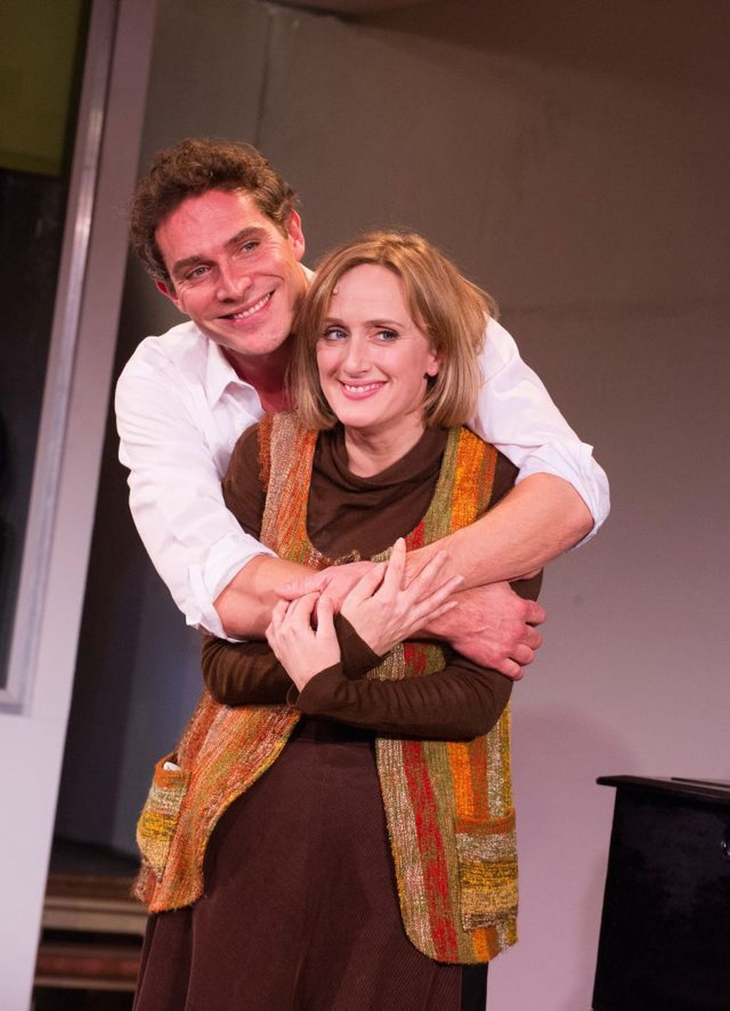 Mark Umbers and Jenna Russell in 'Merrily We Roll Along'
