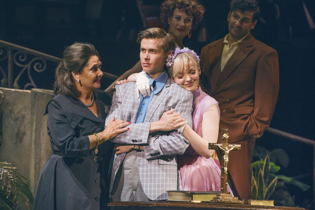 Rob Houchen (centre) in 'The Light in the Piazza'