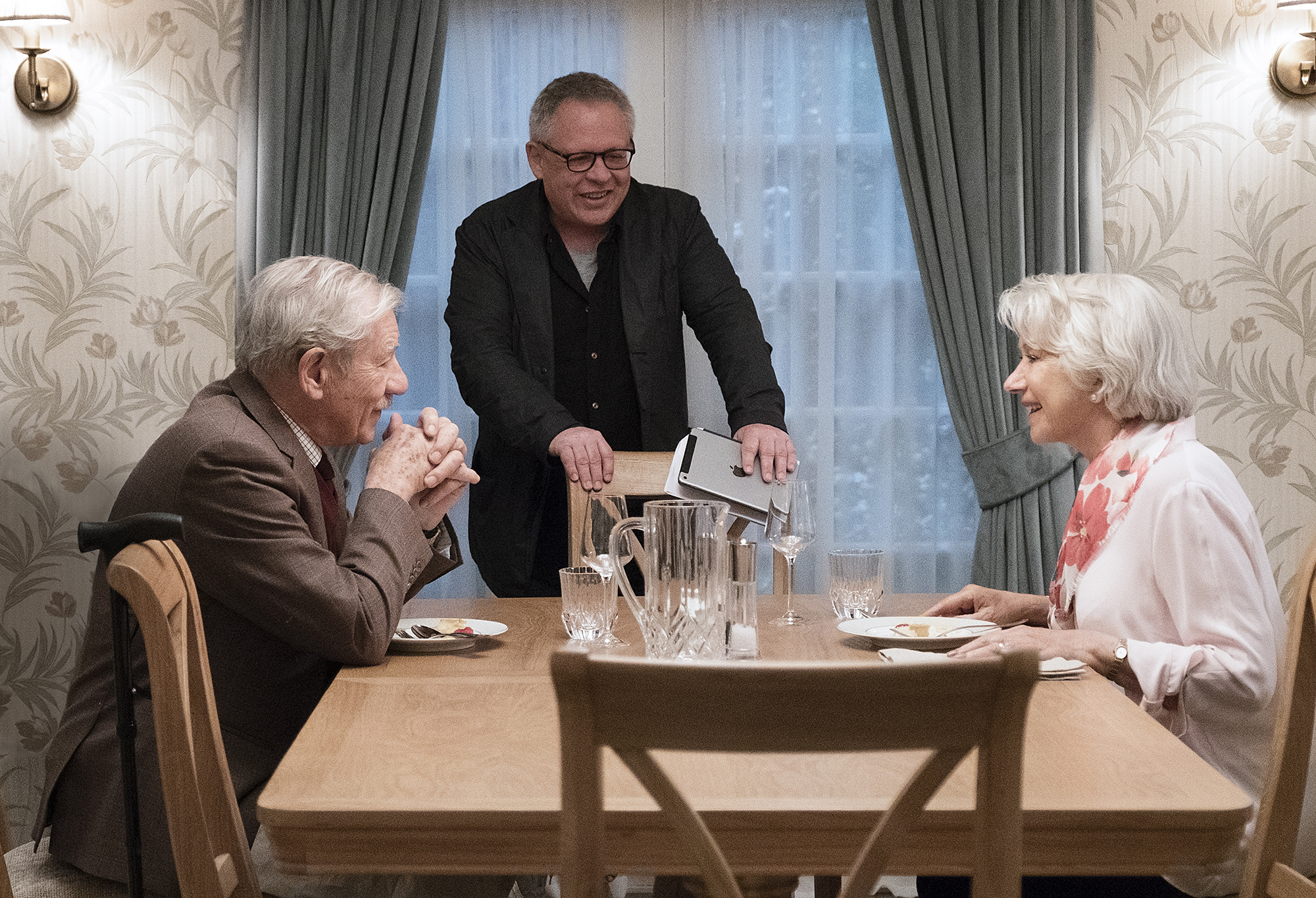 Bill Condon, Helen Mirren and Ian McKellen in The Good Liar