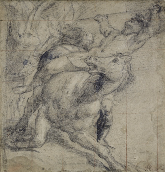 Titian, A Horse and Rider Falling, 1530s