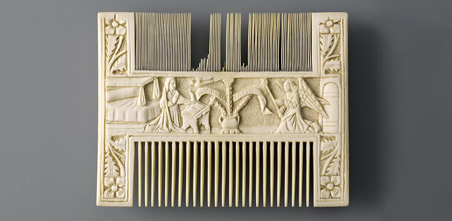 Comb with The Annunciation , c.1450–1500  Kunstgewerbemuseum, Berlin