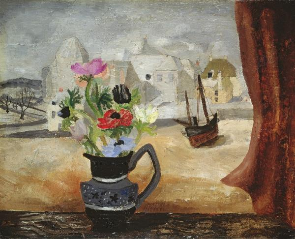 Christopher Wood, Anemones in a Cornish Window , 1930 © Leeds Museums and Galleries (Leeds Art Gallery) / The Bridgeman Art Library