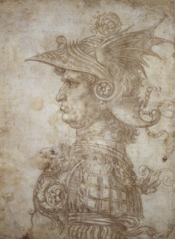 Leonardo da Vinci, Bust of a Warrior, c.1475; © The Trustees of the British Museu
