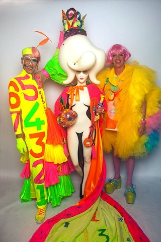 Miss Zero + (Sasha Frolova), with Andrew Logan and Grayson Perry