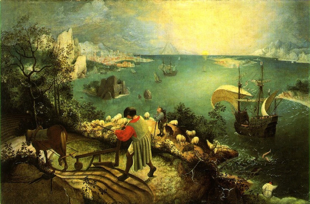 Pieter Bruegel the Elder, Landscape with the Fall of Icarus, c.1558, Royal Museums of Fine Arts of Belgium