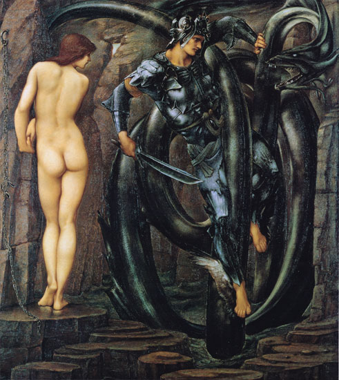 Edward Burne-Jones, Perseus Slaying the Dragon, 1884-85