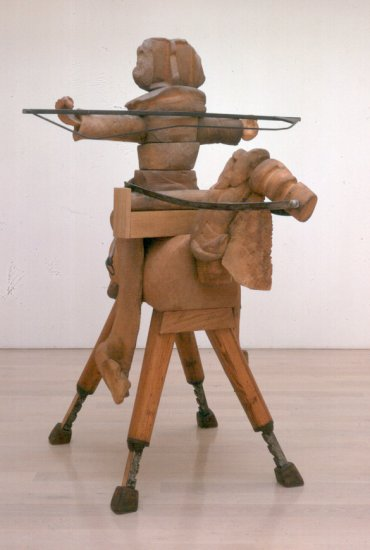 Anthony Caro, a figure from The Barbarians, 2000-2002, Annely Juda Fine Art