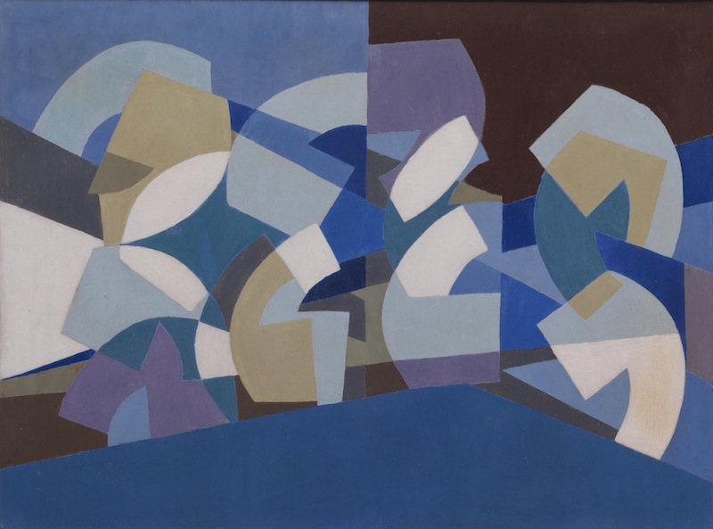 Choucair, Composition in Blue, 1947-51