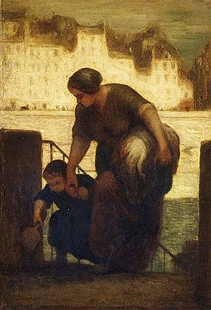 Honore Daumier, The Laundress, 1861-63, Metropolitan Museum of Art