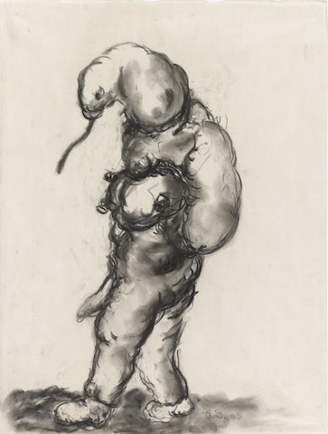 Georg Baselitz, Untitled, 1965 (charcoal)