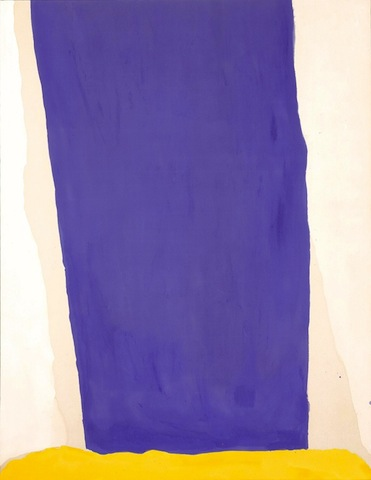 Blue Fall, 1966, Milwaukee Art Museum/Helen Frankenthaler Foundation
