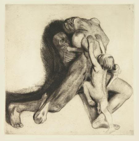Käthe Kollwitz's harrowing Death and the Woman, 1910