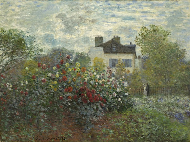 Claude Monet, The Artist's Garden in Argenteuil (A Corner of the Garden with Dahlias, 1873; National Gallery of Art, Washington, DC