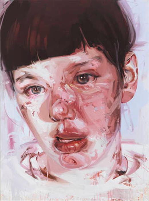 Jenny Saville, Red Stare Head I, 2007-11