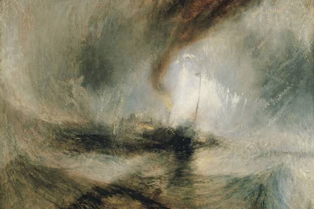 JMW Tuner, Snow Storm Steam - Boat off a Harbour's Mouth; exhibited 1842; Tate